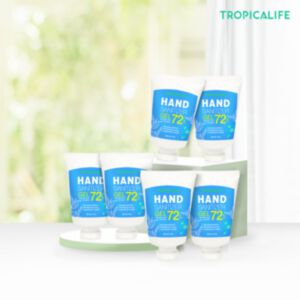 72% ALCOHOL FOOD GRADE HAND SANITIZER GEL WITH ALOE JUICE 35g (6 ชิ้น)