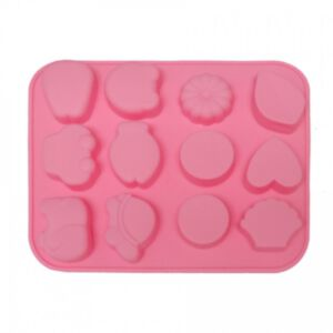SOAP SILICONE MOLD - แม่พิมพ์สบู่ ซิลิโคน รูปหัวใจ-วงกลม 1