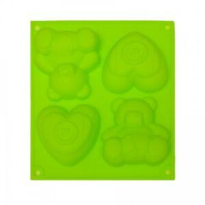 SOAP SILICONE MOLD - แม่พิมพ์สบู่ ซิลิโคน รูปหมี+หัวใจ