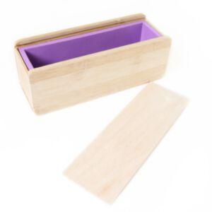 SOAP SILICONE MOLD-แม่พิมพ์สบู่ ซิลิโคน พร้อมกล่องไม้+ฝาปิด