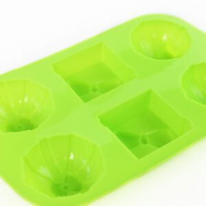 SOAP SILICONE MOLD -  แม่พิมพ์สบู่  รูปกล่องของขวัญผูกโบว์  สีเขียว