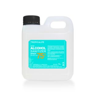 75% ALCOHOL BASE SANITIZER SPRAY WITH ALOE JUICE 1L (FOOD GRADE) **ไม่มีกลิ่นน้ำมันหอมระเหย**