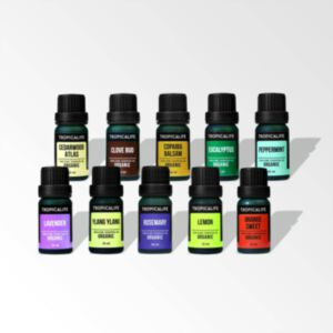 ORGANIC ESSENTIAL OILS FAMILY 10 PIECES SET