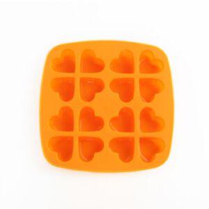 SOAP SILICONE MOLD - แม่พิมพ์สบู่ ซิลิโคน รูปหัวใจ สีส้ม