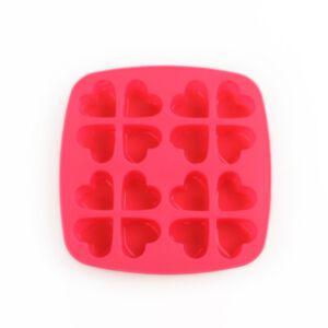 SOAP SILICONE MOLD - แม่พิมพ์สบู่ ซิลิโคน รูปหัวใจ สีชมพู