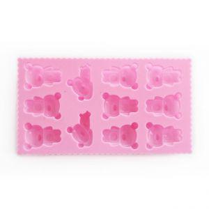 SOAP SILICONE MOLD-แม่พิมพ์สบู่ซิลิโคนรูปหมี 11 ช่อง