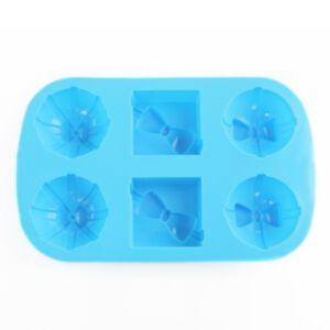 SOAP SILICONE MOLD - แม่พิมพ์สบู่ รูปกล่องของขวัญผูกโบว์  สีฟ้า